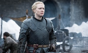 Gwendoline Christie as Brienne of Tarth in Game of Thrones.