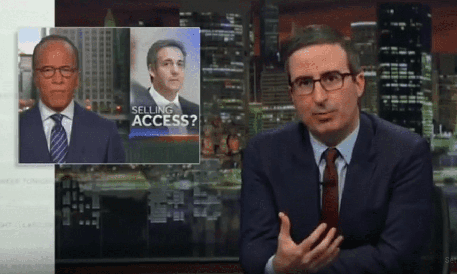 'These days, Trump aide says something awful isn't really news; it's just an assumed fact, like gravity'...John Oliver