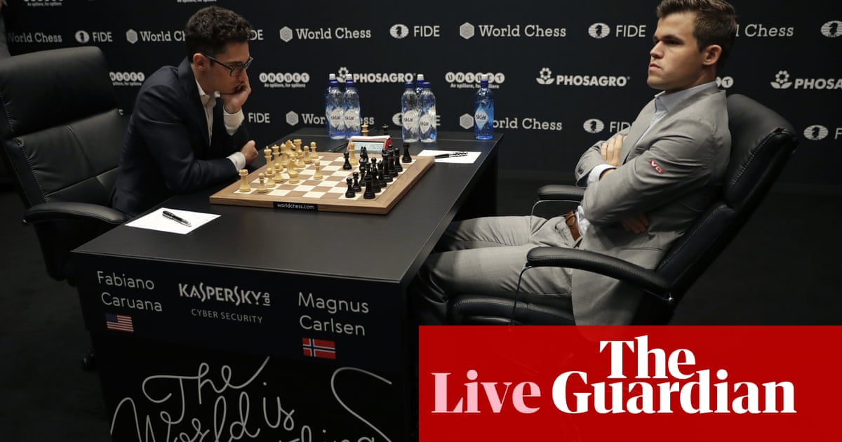 Magnus Carlsen turns tables on Fabiano Caruana in Game 3 draw – as it happened