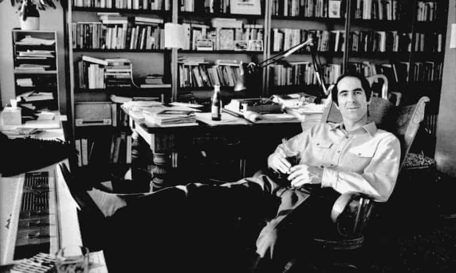 Philip Roth in the study of his apartment in Kips Bay, New York, 1968.