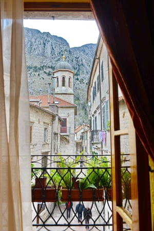 A hotel in Kotor's rugged old town.