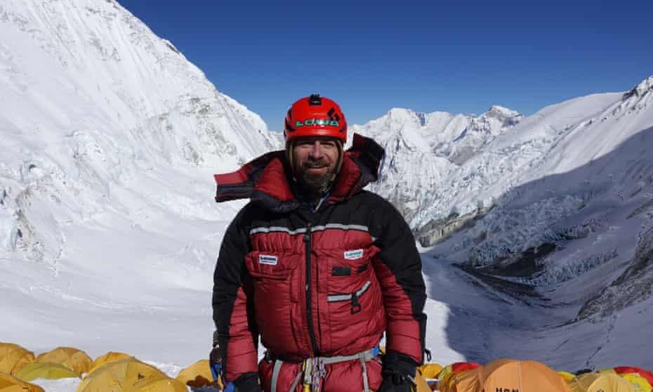 Jim Davidson ที่ความสูง 23,700 ฟุตระหว่างความพยายามครั้งที่สองบนยอดเขาเอเวอเรสต์
