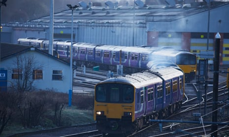Northern Rail trains in Manchester.