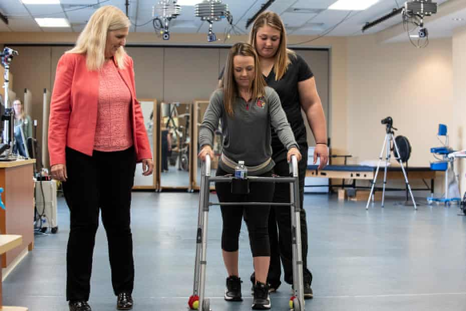 Kelly Thomas is one of two paraplegic patients who benefited from epidural stimulation.