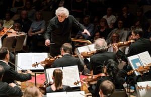 Simon Rattle with the Berlin Philharmonic at the Royal Festival Hall, 30 May 2018.