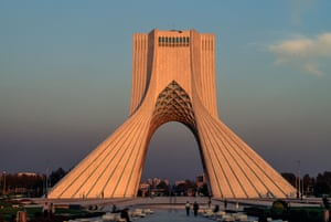 The Azadi Tower in 1971