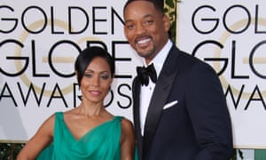 Jada Pinkett Smith with husband Will Smith at the Golden Globes in January.