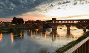 The Covered Bridge at Pavia.