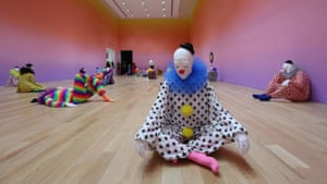 Vocabulary of Solitude, a roomful of clown sculptures on show in Miami.