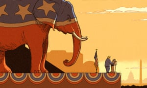 Robert G Fresson illustration for Jonathan Freedland on Trump's Republicans