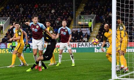 James Tarkowski's scrappy winner gives Burnley the edge over Brighton