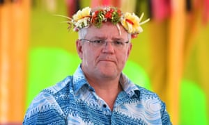 Scott Morrison at the Pacific Islands Forum in Tuvalu