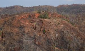 A barren hill in Madagascar.