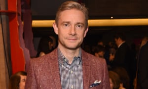 Sherlock star Martin Freeman has said he is too 'gobby' to promote his political views on Facebook or Twitter