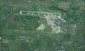 An artist's impression of Dublin airport with a new north runway
