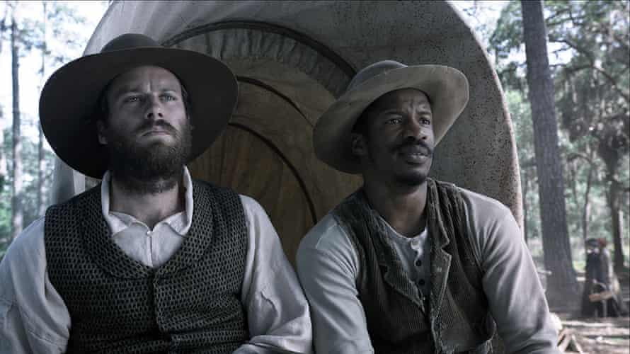 Armie Hammer, left, and Nate Parker in a scene from The Birth of a Nation.