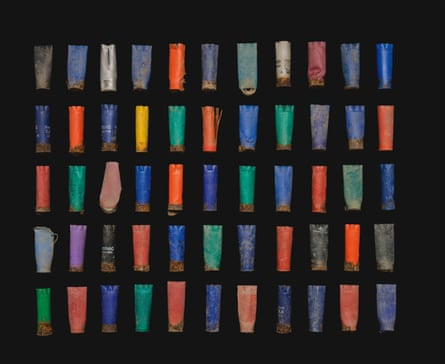 While scouring the site, Mendel found spent shotgun shells, predating its use as a refugee camp.