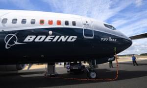 A Boeing 737 Max at the Farnborough International Airshow last year.