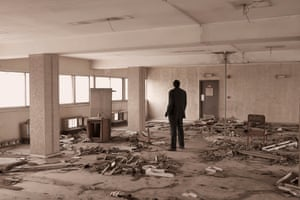 An abandoned office in Financial Trust House.