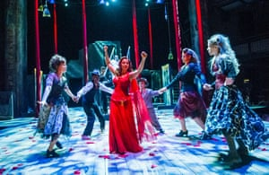 Ayesha Dharker and cast in A Midsummer Night's Dream.