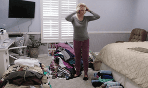 Margie Hodges takes hold of all her stuff in cleaning up Marie Kondo