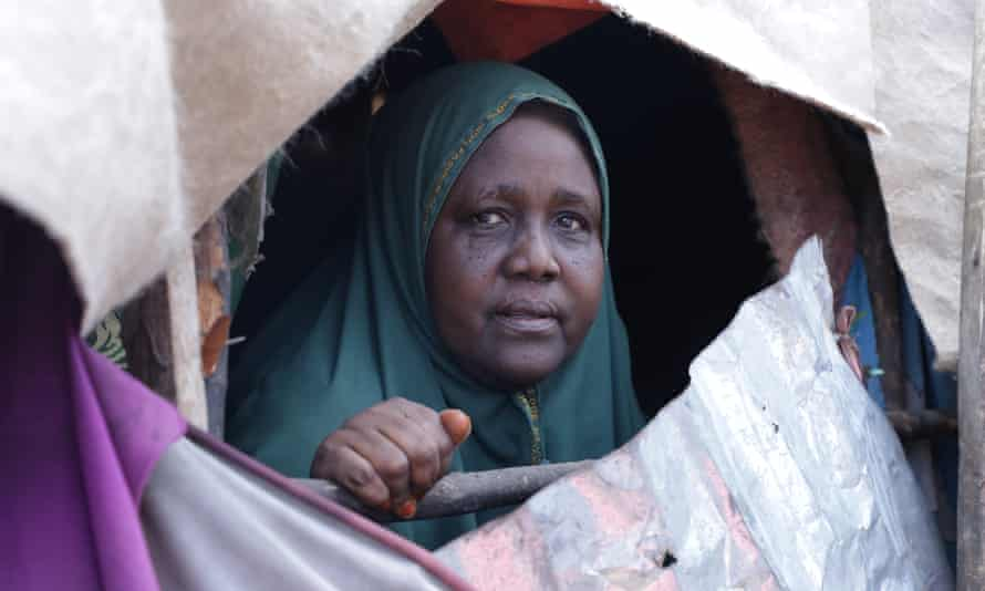 Fadumo Ali Mohamed in one of Mogadishu camps for displaced people.