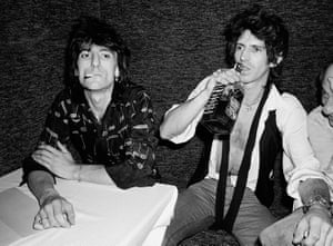 Ronnie Wood and Keith Richards at the Danceteria in 1980.