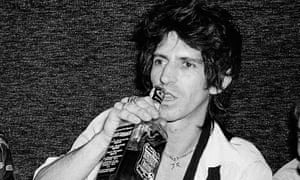 Keith Richards was well known for his love to Jack Daniels's whiskey.