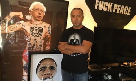 The street artist Sabo at his LA studio.
