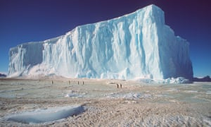 Grounded iceberg in the Antarctic