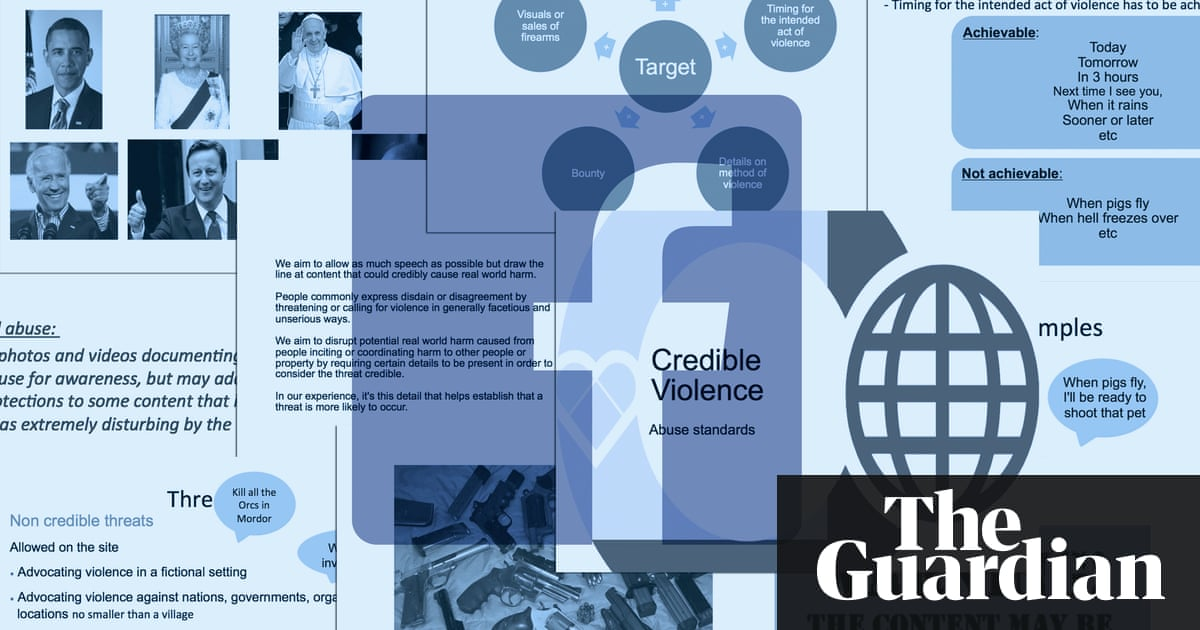 Revealed: Facebook's internal rulebook on sex, terrorism and violence    News   The Guardian