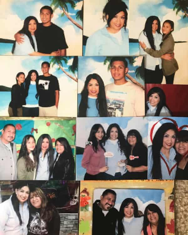 A collage of portraits of Corene De La Cruz.