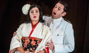 Olga Busuioc as Cio-Cio-San and Joshua Guerrero as Pinkerton in Annilese Miskimmon's new Madama Butterfly at Glyndebourne.