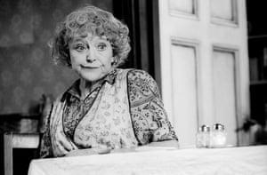 The Birthday Party Dora Bryan (Meg) directed by Sam Mendes. Lyttelton, National Theatre, London, 1994.