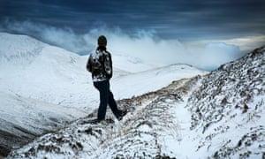 A walker in Glenshee