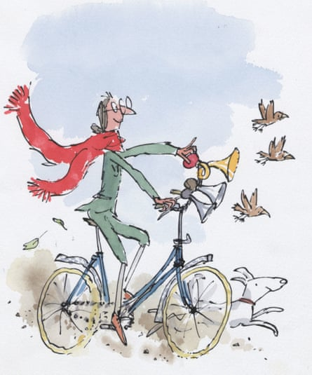 An illustration by Quentin Blake, to whom Rosen feels he owes his publishing career.