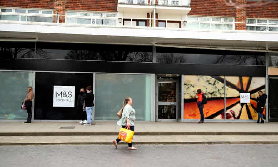 Spaced queue outside M&S