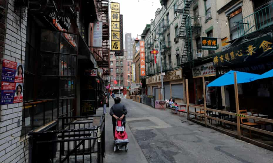Pell Street was nearly empty in the days after an attack on a 55-year-old Asian woman, in June 2021.
