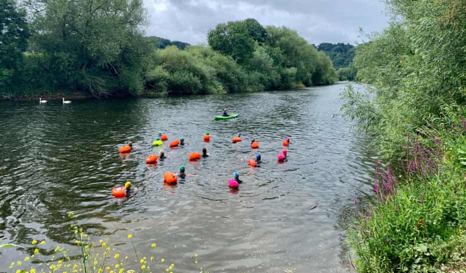 wild river swimming in Herefordshire