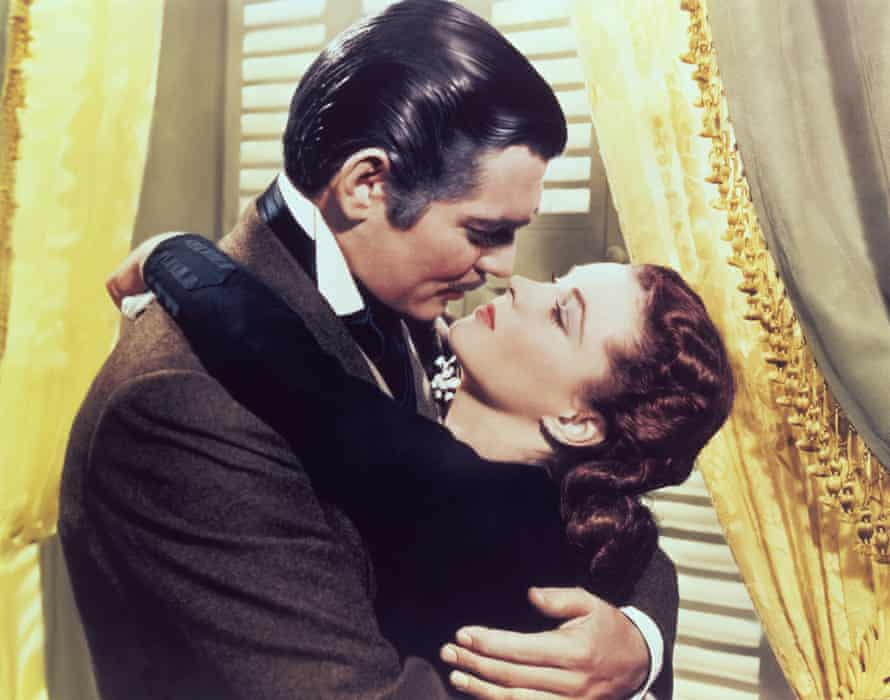 Clark Gable and Vivien Leigh in Gone With the Wind.