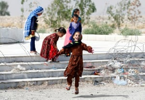 Children play in Kabul