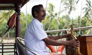 Captain Janardhanan at the helm
