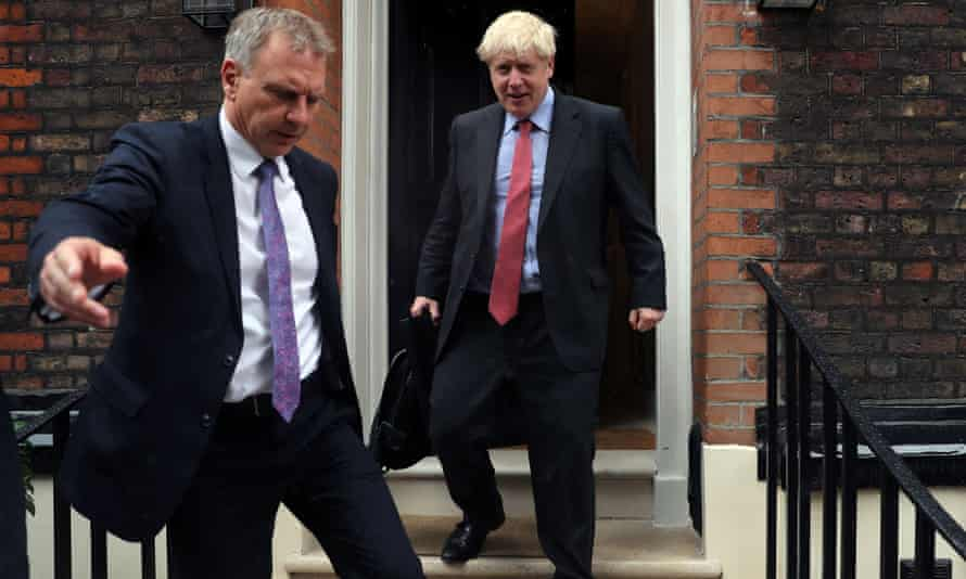 Boris Johnson leaves house