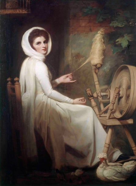 Emma as the Spinstress, by George Romney.