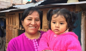 Roberta Huamanrimanchi Tupahuacayllo, with her daughter is descended from Inca blue blood on her mother's side.