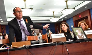 Fred Guttenberg, father of student Jaime Guttenberg, testifies on Capitol Hill in Washington DC on Wednesday.