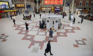 Victoria station in London on 19 March, after the lockdown was announced.