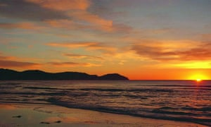 Sun rising off the coast of Gisborne, New Zealand