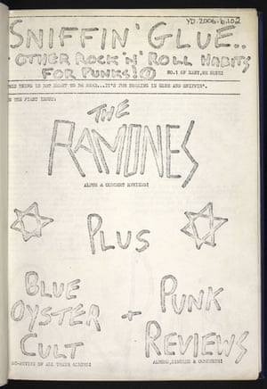 The first issue of Sniffin' Glue.