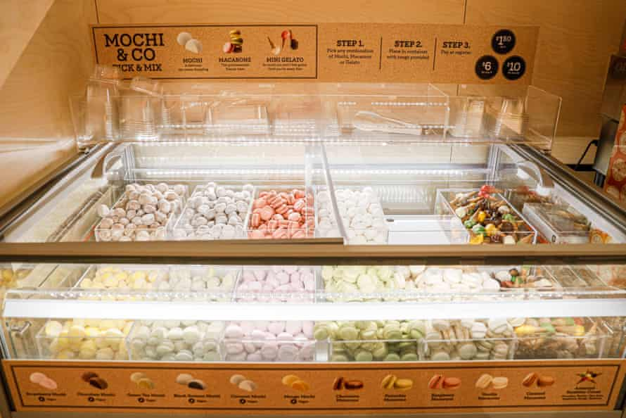 A mochi and macaron stand at Coles's Format A store in Sydney's Rose Bay, which opened in May.